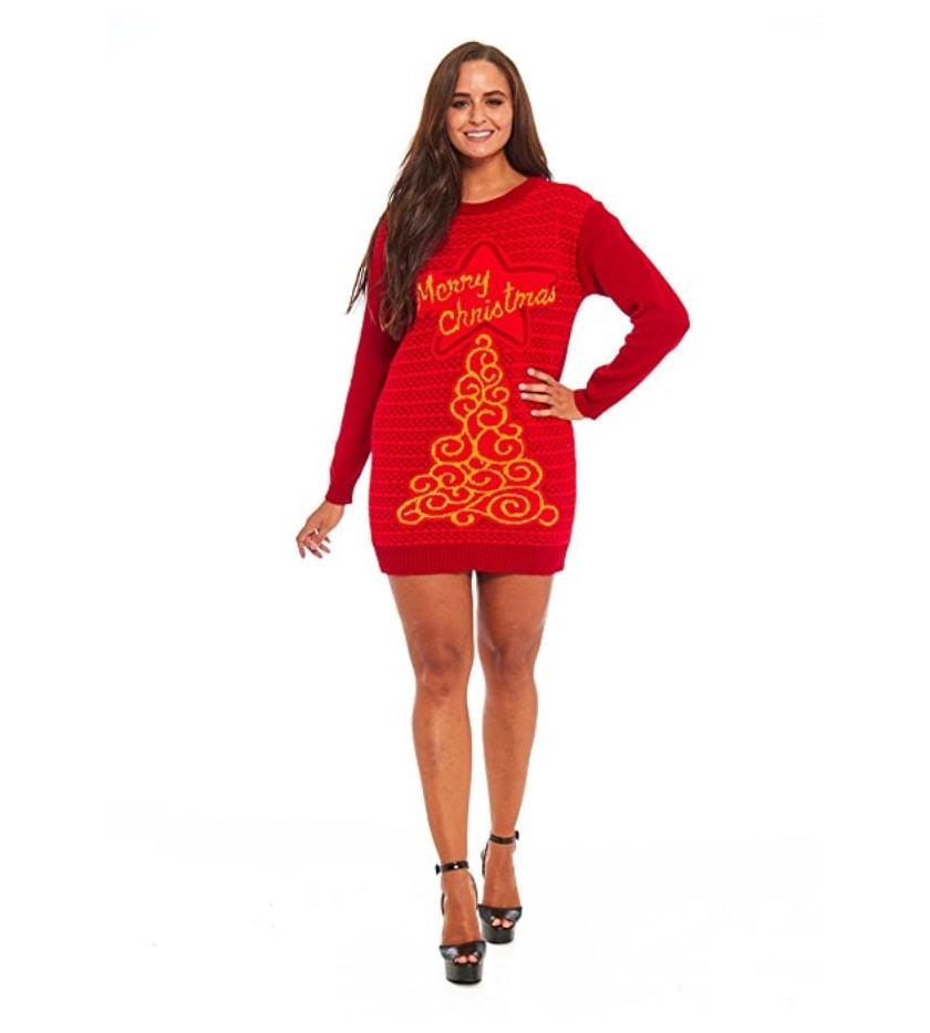 Sapin new school merry christmas pull robe de no l for Robe de noel rouge