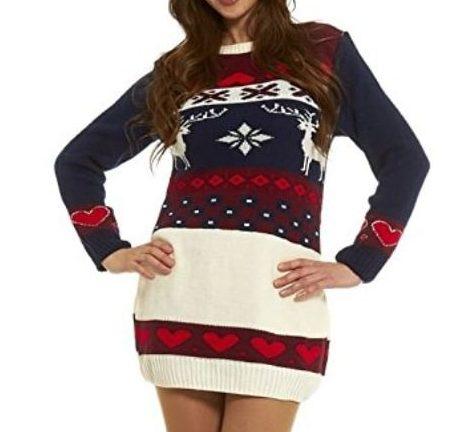 nouveau produit aperçu de 2019 professionnel Robe Pull de Noël - Style Vintage Norvégien - Robe de noël