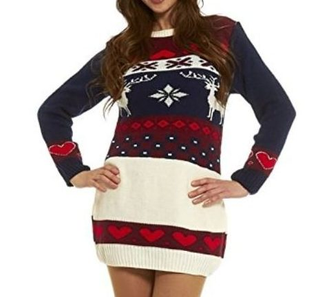 f74094ccf494 Robe Pull de Noël - Style Vintage Norvégien - Robe de noël
