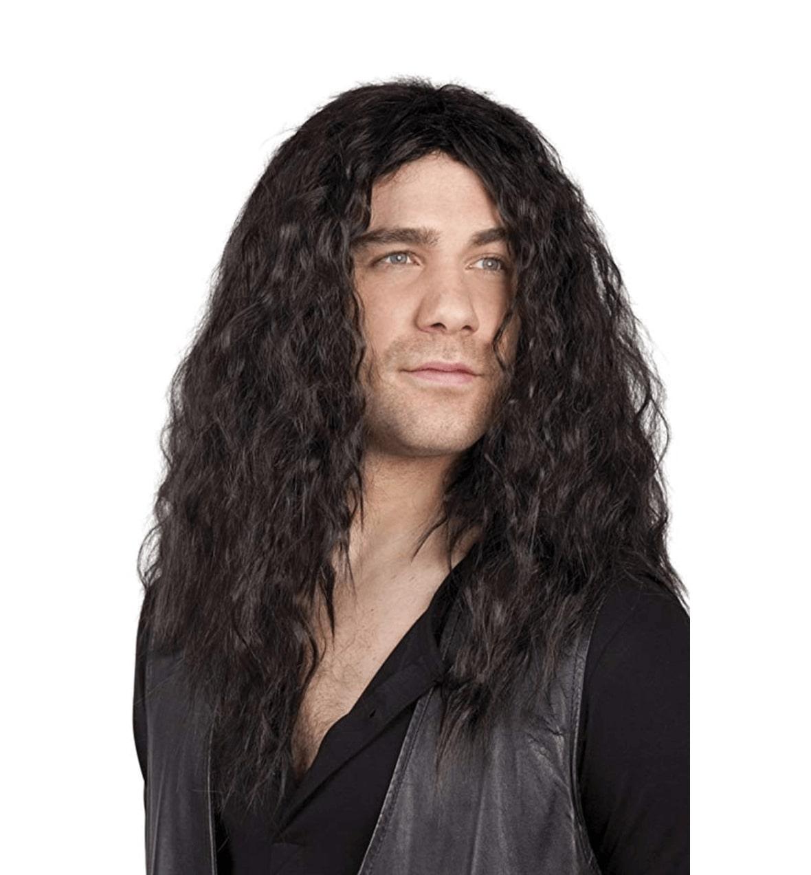 jacques perruque cheveux longs brun homme. Black Bedroom Furniture Sets. Home Design Ideas