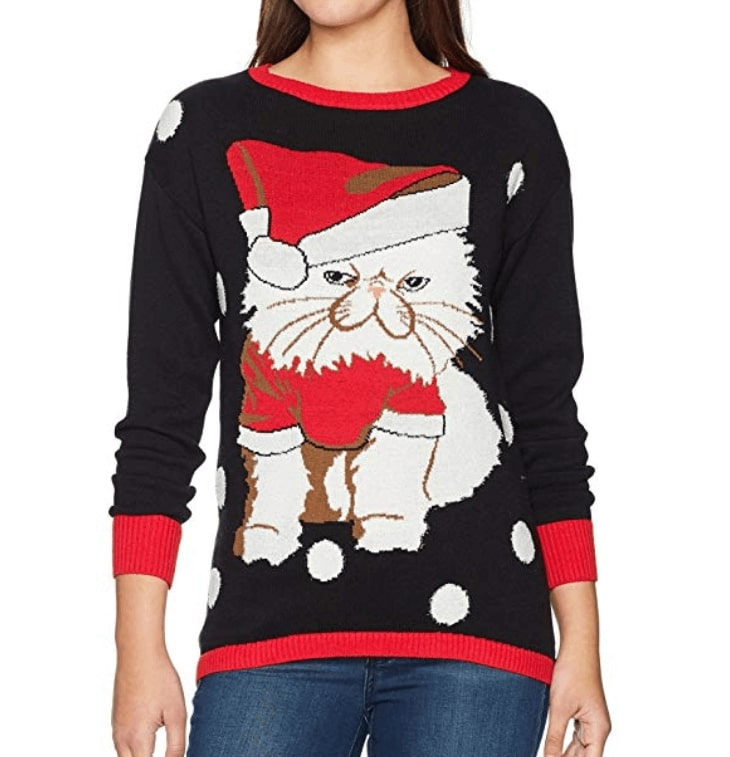 maouh pull no l chat ugly christmas sweater. Black Bedroom Furniture Sets. Home Design Ideas