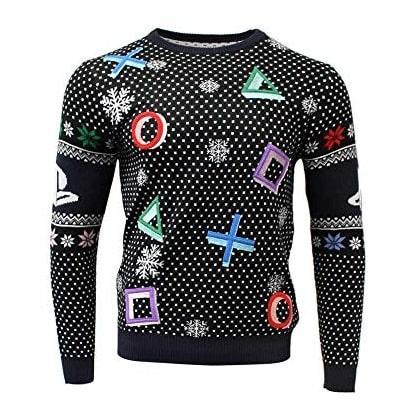 △ ○ ✗ ☐ – Les Symboles Playstation – Pull Noël Gamer