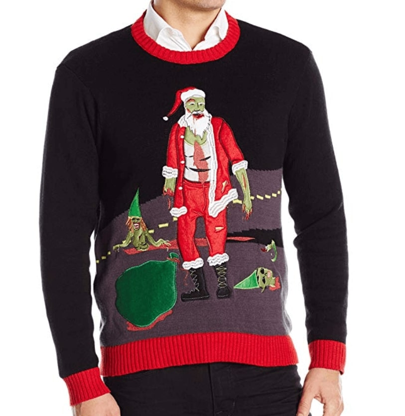 The Walking Dead Pull Noël Homme Ugly Christmas Sweater