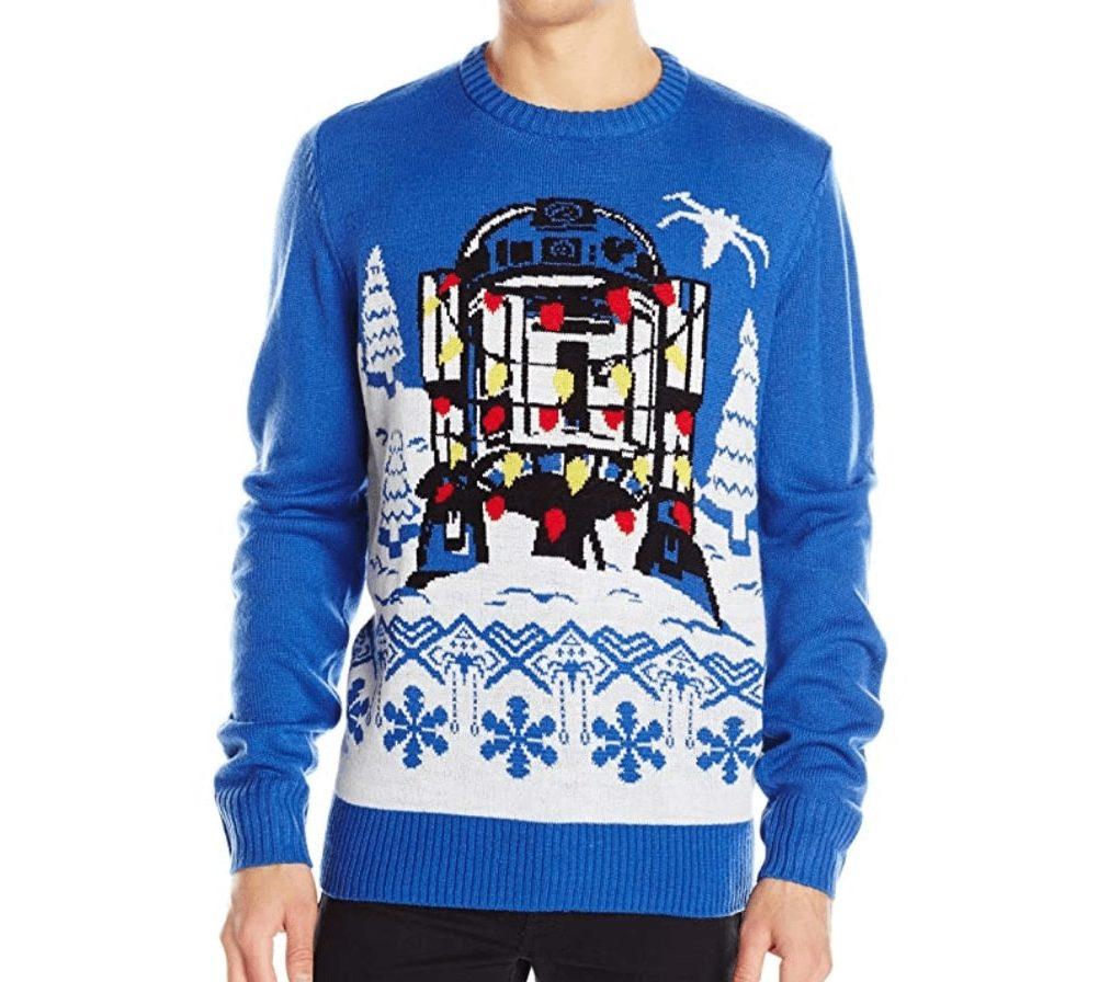 R2d2 Enguirlandé Star Wars Ugly Christmas Sweater