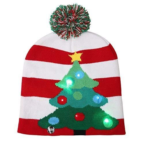bonnet tricot no l sapin de no l accessoires de no l. Black Bedroom Furniture Sets. Home Design Ideas