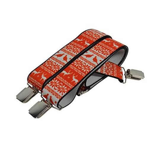 Nouvelle liste dernière mode gamme exceptionnelle de styles et de couleurs Bretelles 'Y' entièrement réglable Rennes Noël - Accessoires de noël - rouge