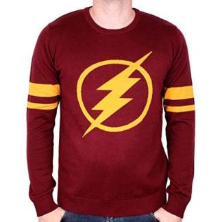 Pull de No/ël tricot/é avec Logo Batman et Unisexe DC